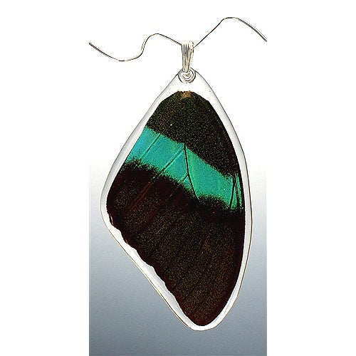 Peacock Swallowtail Butterfly Top Wing Pendant