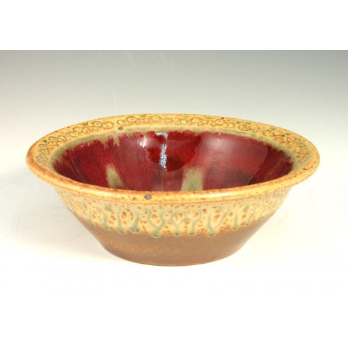 Red Cereal Bowl