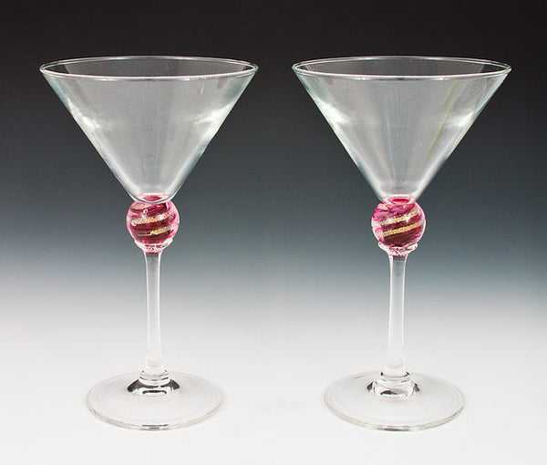 Red Planet Martini Glasses