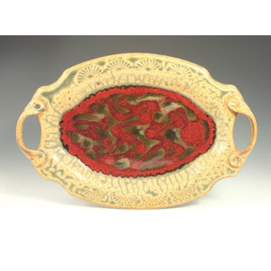 Red Serving Tray