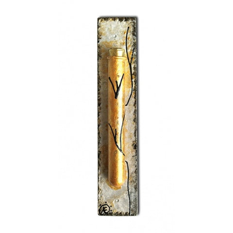 Royal Mezuzah Gold Tones