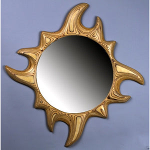 Sun Plywood Mirror