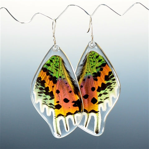 Sunset Butterfly Bottom Wing Earrings