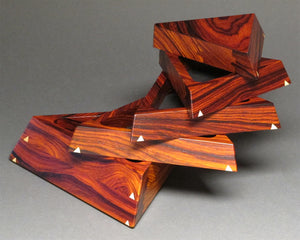 Bubinga Wood Trapezoid Box