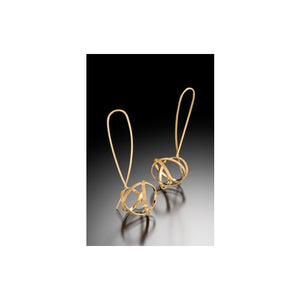 Vermeil Mobius Drop Loop Earring