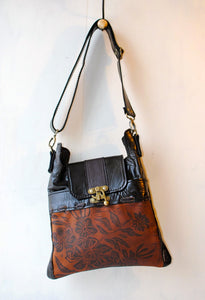 Whiskey Madrid Leather Handbag