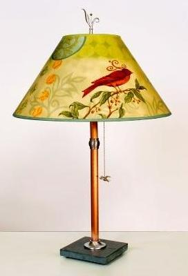 Woodland & Birds Copper & Slate Table Lamp