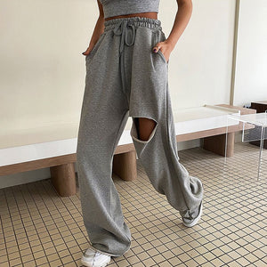 Smuggle Wide Leg ripped joggers