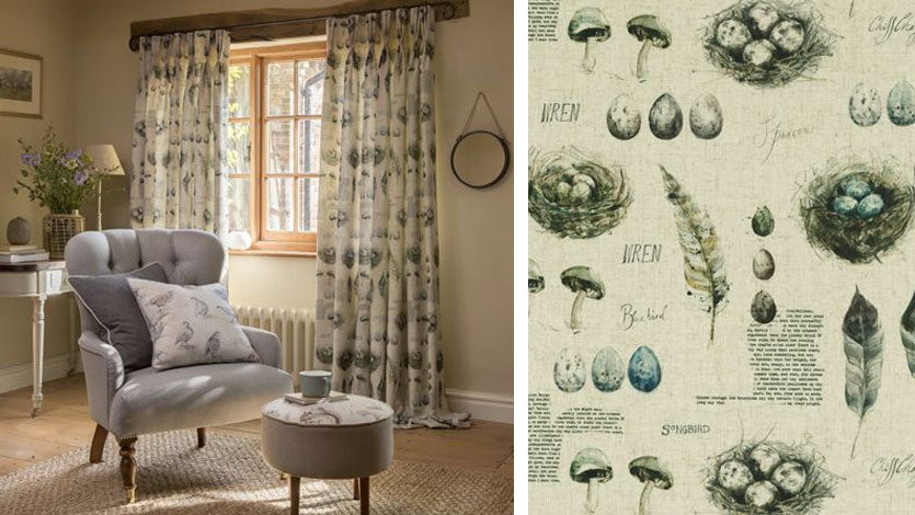 New for Spring, the Studio G Countryside Collection by Clarke & Clarke Fabrics
