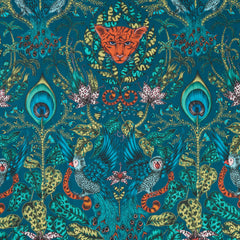 Emma J Shipley for Clarke & Clarke - Amazon Navy Fabric