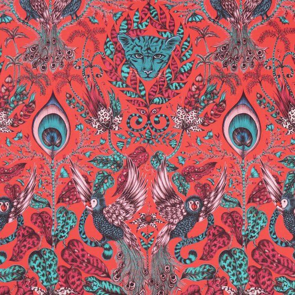 Emma J Shipley for Clarke & Clarke - Amazon Red Fabric