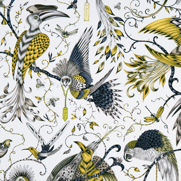 Emma J Shipley for Clarke & Clarke - Audubon Gold Fabric