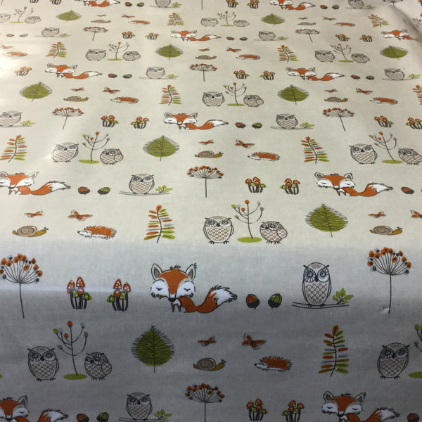 Woodland Fox PVC Wipe Clean Tablecloth