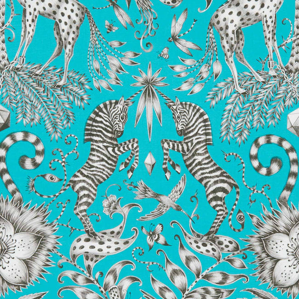 Emma J Shipley for Clarke & Clarke - Kruger Teal Fabric