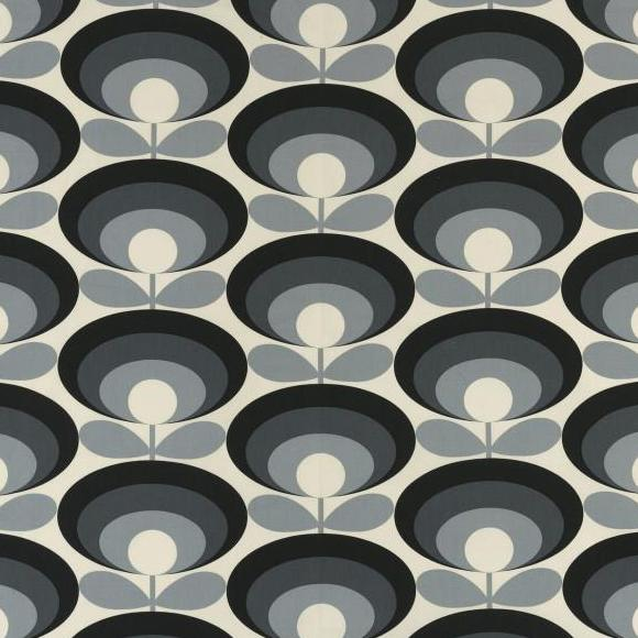 Orla Kiely Seventies Flower Oval Cool Grey