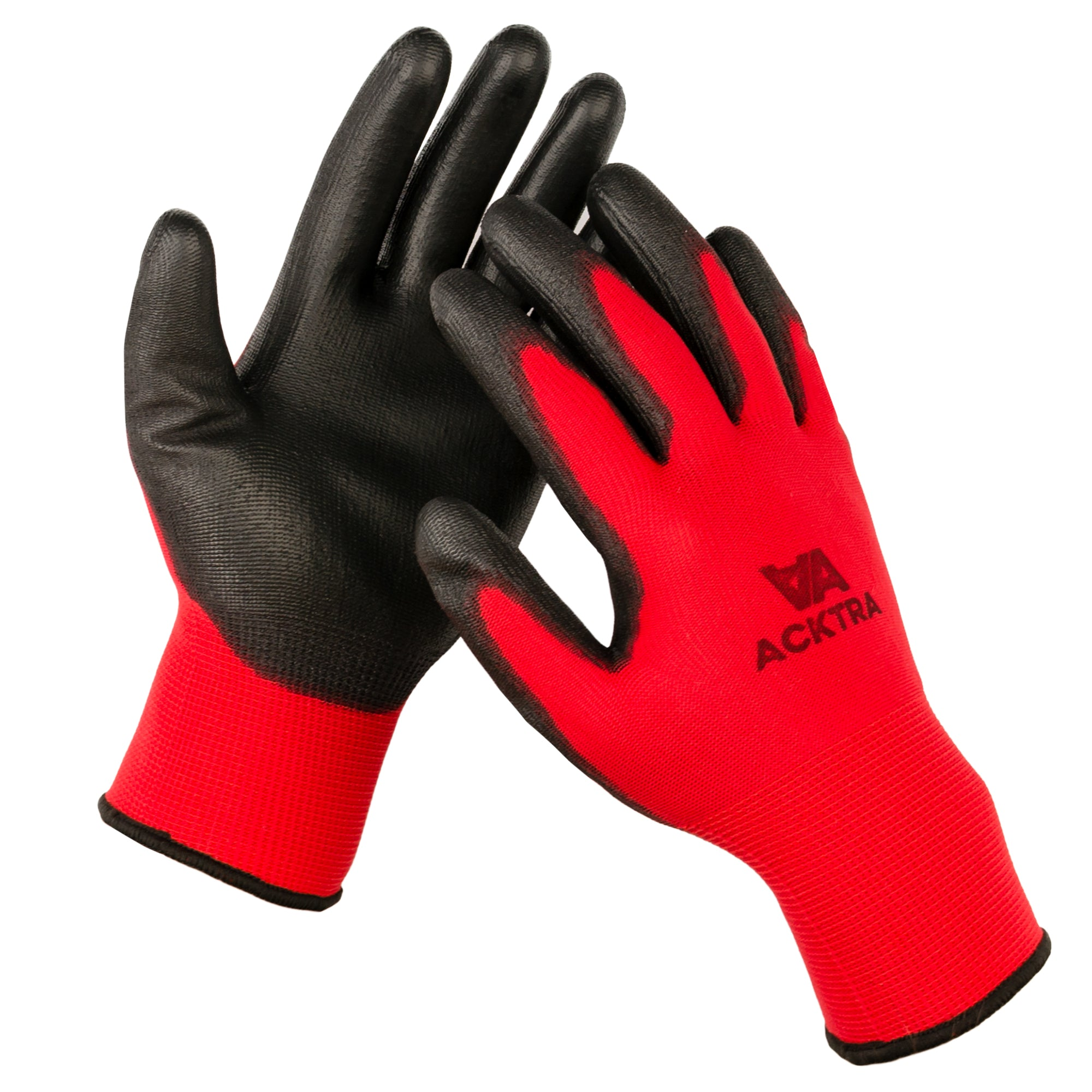 Black Nylon Pu Coated Work Gloves Precision