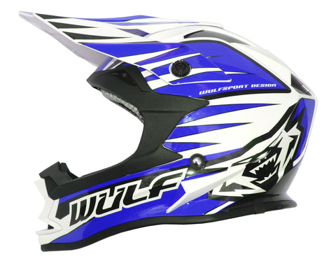 Wulfsport Race Advance Helmets Blue