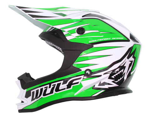 Wulfsport Race Advance Helmets Green