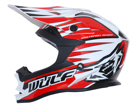 Wulfsport Race Advance Helmets Red