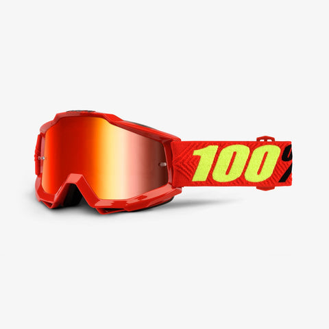 100% Accuri Goggle Red Saarinen -  Red mirror