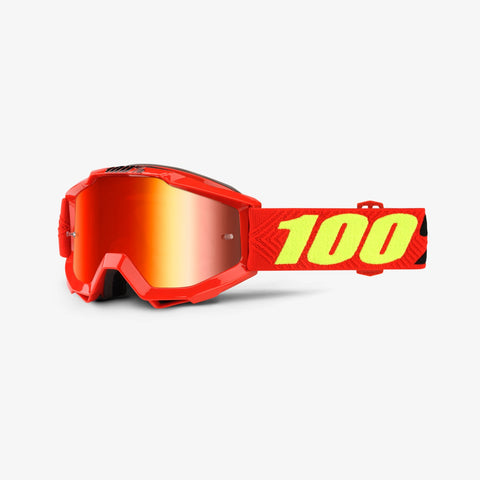 100% Accuri Youth Goggle Rec Saarinen- Red mirror