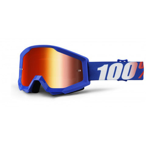 100% The strata jr. Goggle Blue - Red Lens