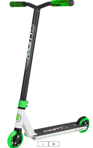 Lucky Crew 2019 Pro Scooter Color: White/Black/Green