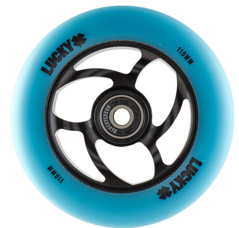 Lucky Torsion Pro Scooter Wheel Color: Teal/Black Diameter: 110mm