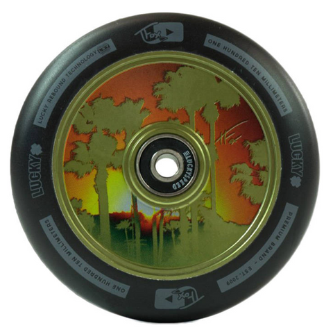 Lucky Tanner Fox Pro Scooter Wheel Color: Green Diameter: 100mm