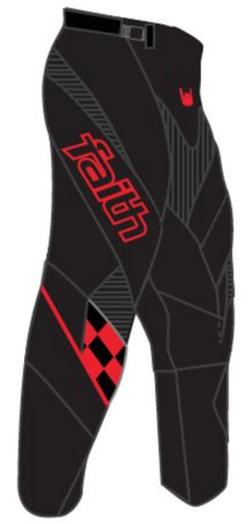 Faith BMX Eclipse Pant Black/red
