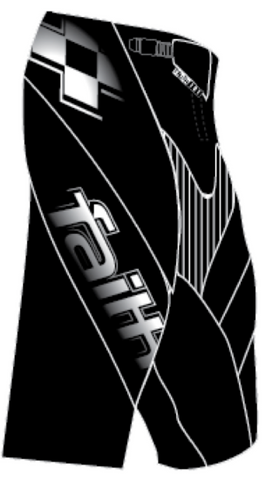 Faith BMX Second Advent SHORT Black/white (Pre-order for begin Febr.19)