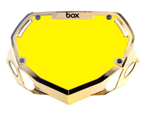BOX TWO CHROME NUMBER PLATE GOLD