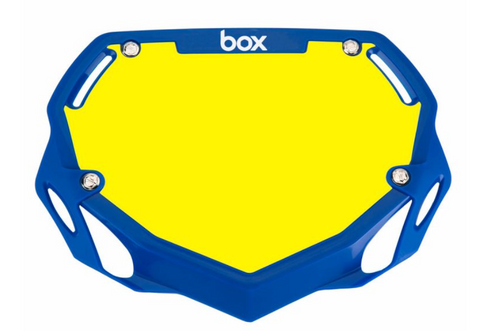 BOX TWO NUMBER PLATE BLUE