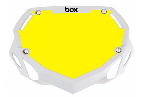 BOX TWO NUMBER PLATE WHITE