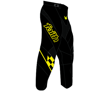 Faith BMX Eclipse Pant Black/Fluo Yellow