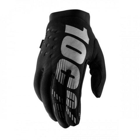 100% Brisker Glove Black Grey
