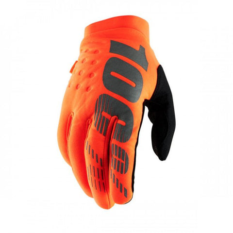 100% Brisker Glove Fluo Orange
