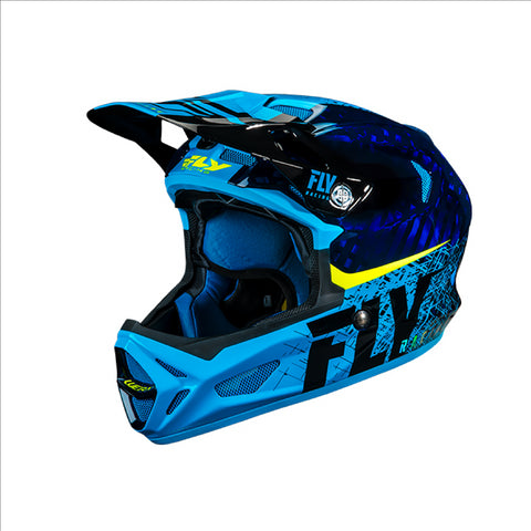 FLY Werx Imprint 2019 Mips Carbon Helmet Black - Blue