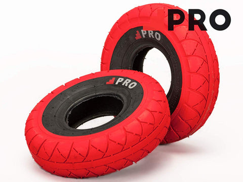 RED/BLACK wall TIRE 1PC + INNER TUBE