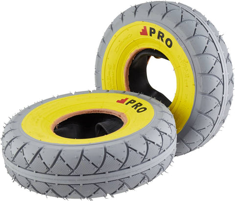 ROCKER Grey/yellow MARBLED TIRE 1PC + INNER TUBE