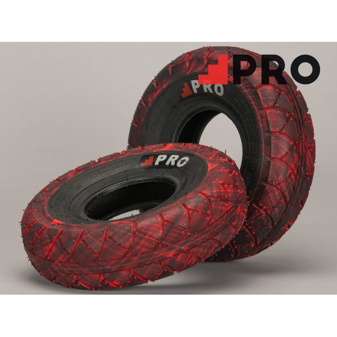 ROCKER RED/BLACK MARBLED TIRE 1PC + INNER TUBE