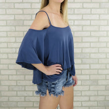 Go With The Flow Cold Shoulder Top