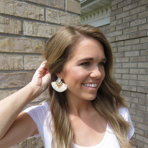 Sweet Serendipity Tassel Earring White