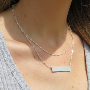 Endless Treasure Bar Necklace Silver