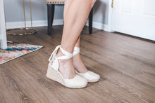 The Channing Espadrille Wedges Beige