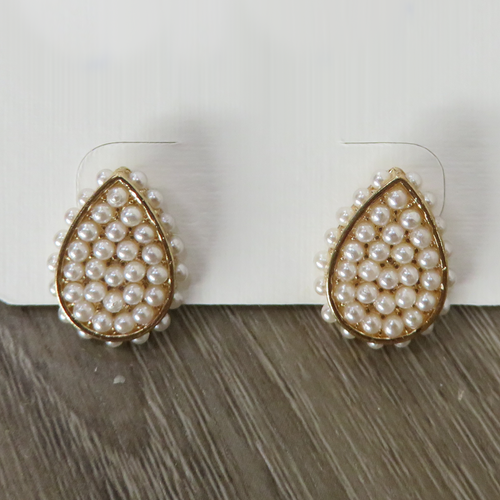 Pearl Accent Teardrop Earrings