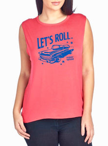 Let's Roll Graphic Tank Extended Size