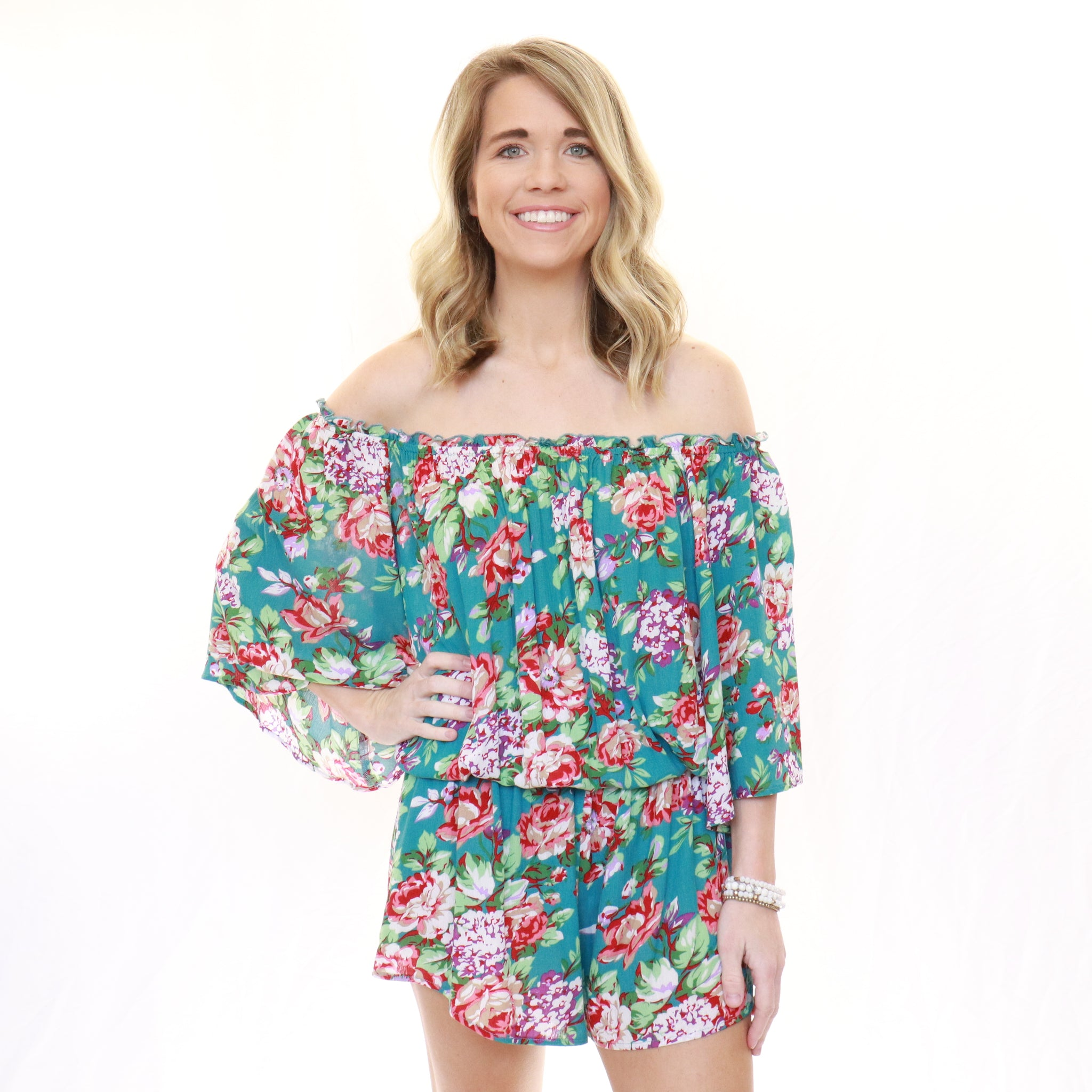 Landed In Paradise Romper