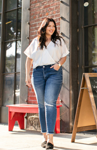 The Haley Mid Rise Denim Extended Size