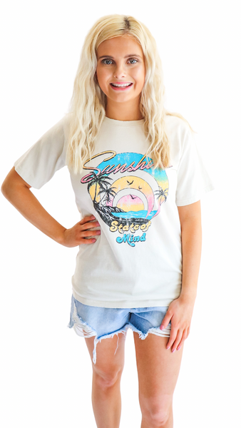 Sunshine State Of Mind Graphic Tee Cream